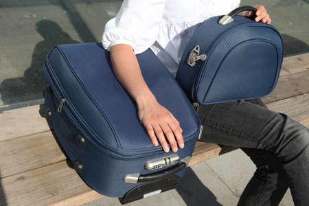 breathe easy: luggage of somebodys waiting