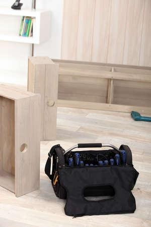 Assemblying furniture Stock Photo - 22082563