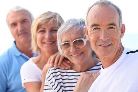 高齢者のグループ 写真素材