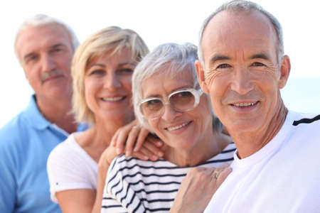 retirement age: Group of seniors