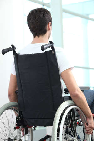 Man in wheelchair Stock Photo - 22080773