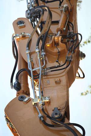 Close-up of a digger arm photo