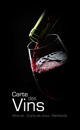 bouteille de vin: Photo d'un verre de vin
