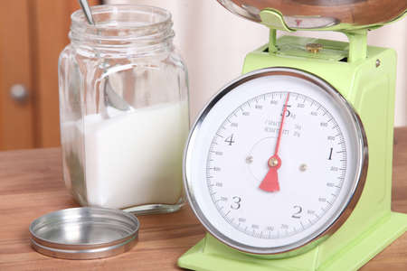proportion: Kitchen scales Stock Photo