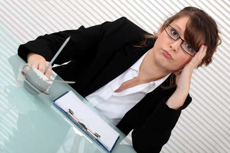 preoccupation: Corporate woman annoyed