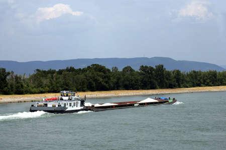 trawler: Trawler navigating a river