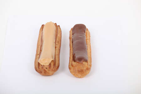 tantalizing: Close-up shot of eclairs