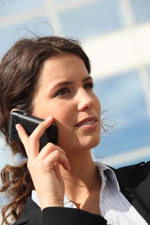 executive affable: Executive on the phone
