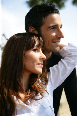 Couple facing sideways Stock Photo - 22276415