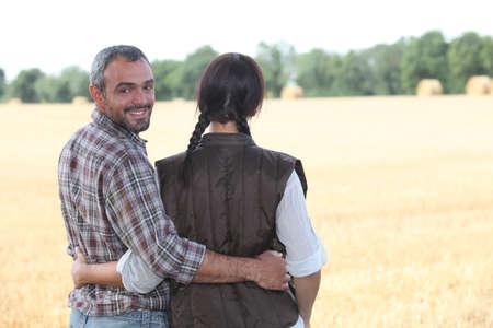 Farmers in a field photo