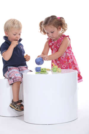 role play: Children having tea together