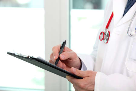 medical notes: doctor writing
