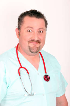 bonkers: Doctor in scrubs Stock Photo