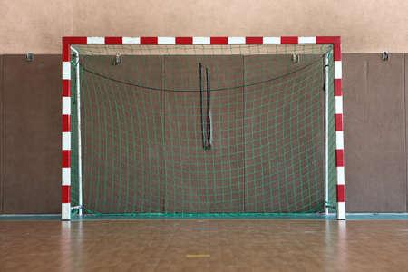 futsal: goal in gymnasium