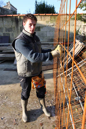 Grid for reinforcing concrete photo
