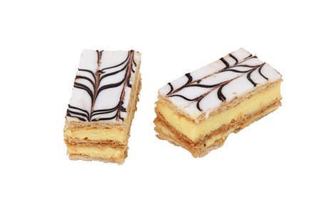 mille: Two mille-feuille pastries