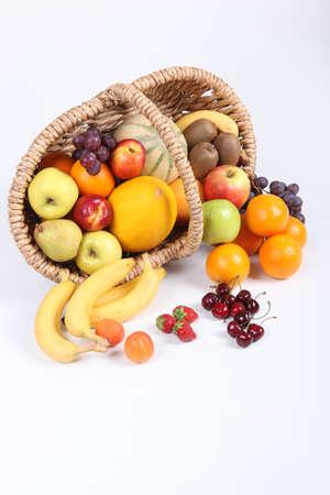 fallen fruit: Basket of fruit