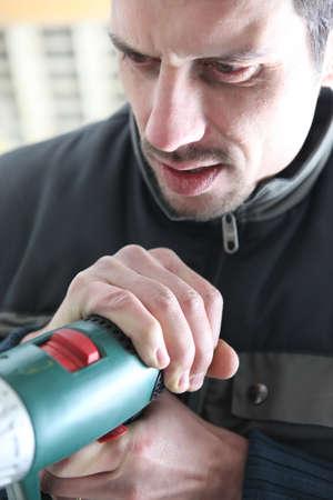 Man using an electric wheel photo