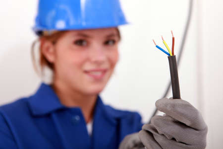 Female electrician Stock Photo - 22400005