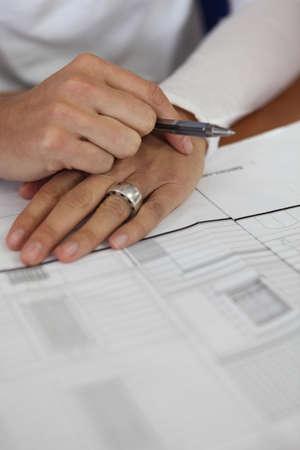 businessman signing documents: businessman signing documents Stock Photo