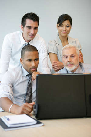 advisers: Financial counselors in a meeting Stock Photo