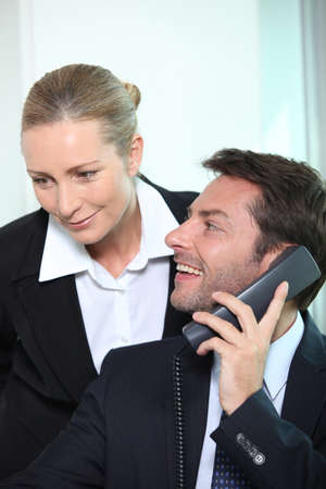 Businessman and woman Stock Photo - 22400102