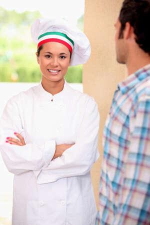 doorstep: Chef on doorstep