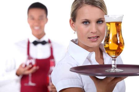 usher: Barman and waitress