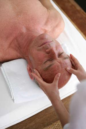 Man having a massage Stock Photo - 22401972