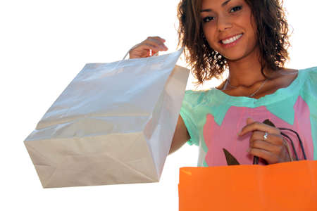 Woman holding shopping bags photo