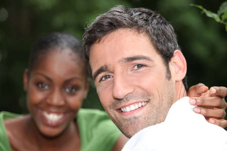 couple relaxing in the park photo