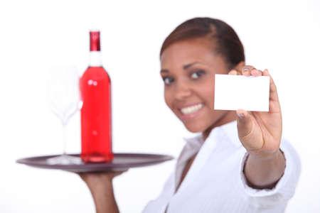 Waitress card photo