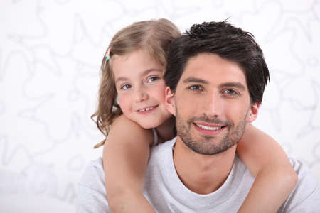 Father and daughter portrait photo