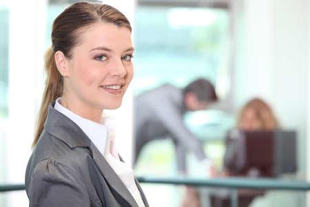 Businesswoman in a hallway photo