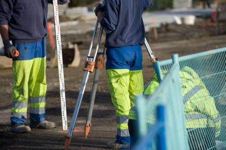 surveying: Site surveyors Stock Photo