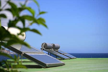 Zonnepanelen aan de kust