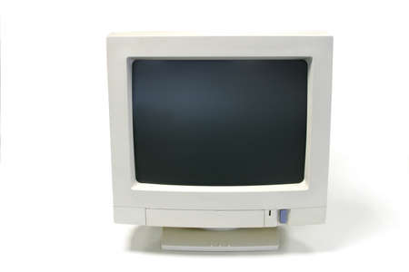 crt: Old CRT computer monitor