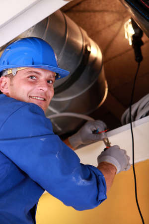 commercial: Electrician at work