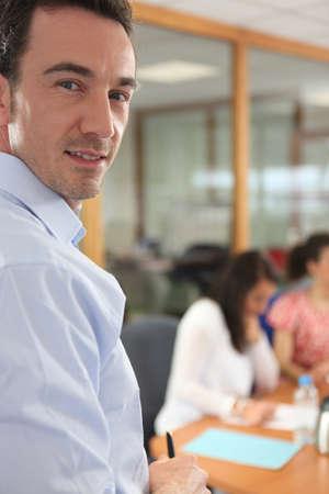collaborators: executive at meeting