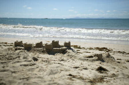 sandcastles: Sandcastles on a beach