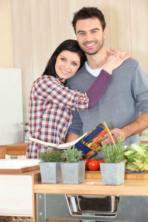 accomplices: Couple following a recipe