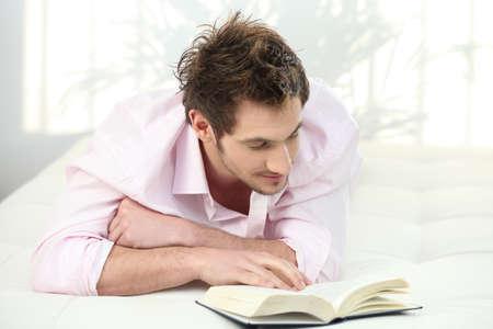 novel: Man reading a novel