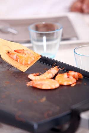 close up food: Gambas a la placha