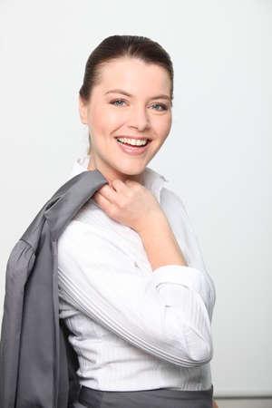 Happy businesswoman photo
