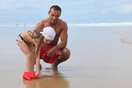 Father and daughter on holiday Stock Photo - 22529936