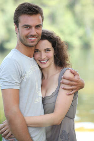 man field: Natural couple hugging