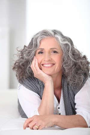 older woman: Smiling older woman