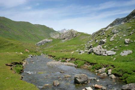 oudoor: Stream on a mountain top Stock Photo