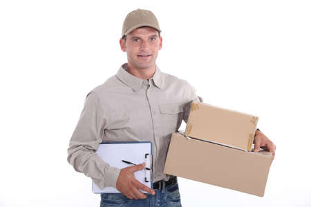 acknowledge: Man delivering a package