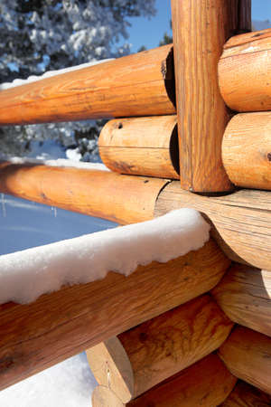 A log fence photo